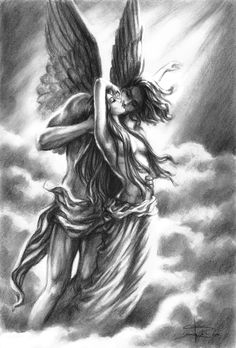 Cupid and Psyche by Sabinerich.deviantart.com on @deviantART i love this artists style, true talent.
