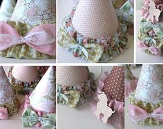 Birthday hats to make, so pretty!