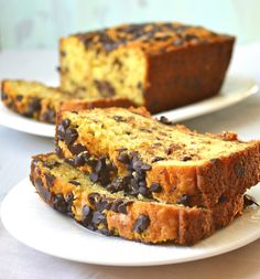 Chocolate Chip Cookie Bread (gluten free) tastes exactly like a chocolate chip cookie!