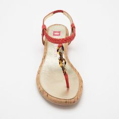 Dylan Sandals in Coral