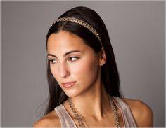 Metallic Lace and Crystal Headband