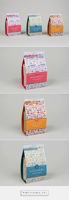 Rice Packaging by Jamie Alloy. Source: Daily Package Design Inspiration. Pin curated by #SFields99 #packaging #design