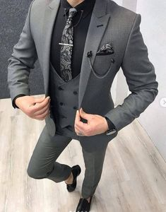 Collection: Spring – Summer 19 Product: Slim-Fit Vest Suit Color Code: Gray Size: Suit Material: wool, poly Machine Washable: No Fitting: Slim-fit Package Include: Coat, Vest and Pants Only Blazer Outfits Men, Mens Fashion Blazer, Stylish Mens Outfits, Suit Fashion, Casual Outfits, Stylish Man, Grey Suit Men, Mens Suits, Groom Suits