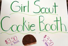 Cookie Booth Basics Poster Girl Guide Cookies, Girl Scout Cookies, Daisy Scouts, Girl Scouts, Gs Cookies, Girl Guides, Booth Ideas, Biscuits, Bling