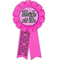 Pink Bride to Be Award Button