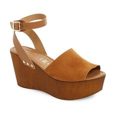 Women's Seychelles Platform Wedge Sandal (5.840 RUB) ❤ liked on Polyvore featuring shoes, sandals, cognac suede leather, wrap sandals, ankle strap wedge sandals, ankle wrap sandals, suede wedge sandals and wedge shoes