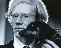 Andy Warhol and Archie #dachshund
