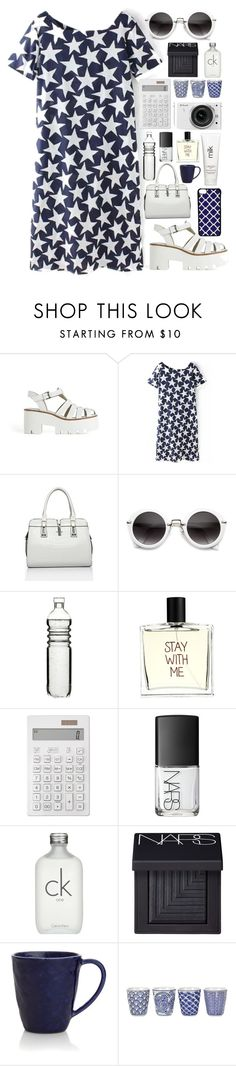 """""In the fashion industry, everything goes retro except the prices."""" by laurasuursepp ❤ liked on Polyvore featuring moda, Windsor Smith, Dot & Bo, Liaison De Parfum, H2O+, Muji, Nikon, NARS Cosmetics, Calvin Klein y Crate and Barrel"