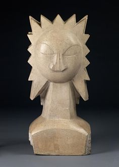 Sunflower by Jacob Epstein Sculpture Ideas, Stone Sculpture, Modern Sculpture, Sculptures, Safari, Pablo Picasso, Color Theory, The Rock, Human Body