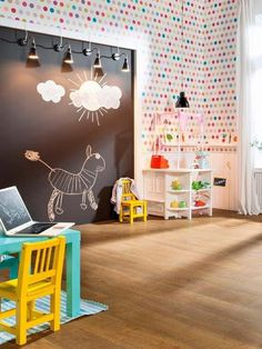Pizarras decorativas en las paredes