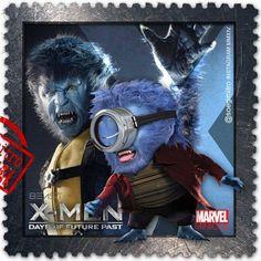Minion Bestia de los X-Men #minions