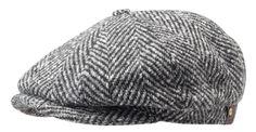 2ac8e7abd09 Hatteras Herringbone Flat Cap Stetson flat caps Hatteras hat (56 cm - black)