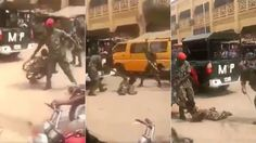 NIGERIAN ARMY ARRESTS SOLDIERS WHO BEAT UP A DISABLED MAN