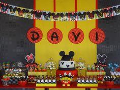 Festejar é tudo de bom!: Um ano do Davi! Festa do Mickey...