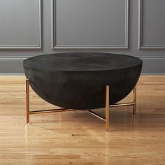 Designed by Mermelada Estudio, handmade coffee table resounds with global style. Inspired by North African drums, substantial surface combines cement, stone powder, granite and marble powder to a natural stone effect. Round Black Coffee Table, Coffee Table Design, Modern Coffee Tables, Coffee Mugs, Living Room Furniture, Modern Furniture, Furniture Design, Office Furniture, Cool Ideas