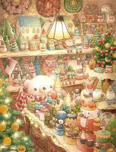 Cute Animal Illustration, Cute Animal Drawings, Kawaii Drawings, Cute Drawings, Illustration Art, Illustrator, Dibujos Cute, Bear Art, Kawaii Wallpaper