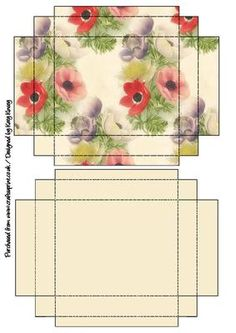 Pretty poppies decorate this easy to make gift box