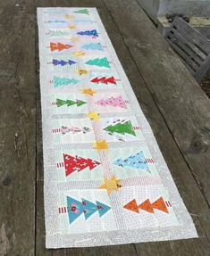 Christmas Trees & Stars Table Runner Quilt pattern | Craftsy
