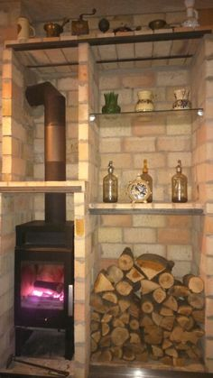Small pub fierplace Firewood, Stove, Kitchen Cook, Woodburning, Stoves, Wood Fuel, Hearth Pad, Kitchens, Range Cooker