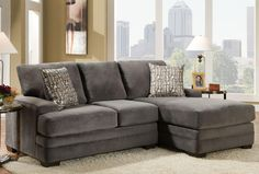 699 American Furniture 3500 Three Seat Sectional Sofa with Chaise at Wilcox Furniture