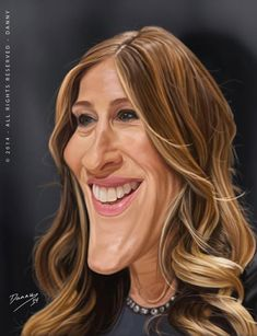Caricatura de Sarah Jessica Parker