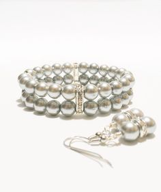 Bridesmaid Bracelet & Earring Set