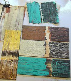 crackle paint using Elmer's Glue instead of expensive crackle medium - tutorial