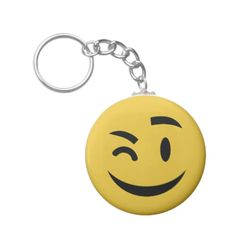 Cute winking at you emoji Keychain by emoji_pillows on Zazzle @zazzle #zazzle #smily #face #cartoon #yellow #black #fun #funny #cute #smile #smiling #sweet #cool #pop #culture #wink #eye #brow #eyebrow #buy #shop #sale #shopping #look #blog #blogging #awesome #awesomeness #keychain #car #auto #automotive #accessory #accessories