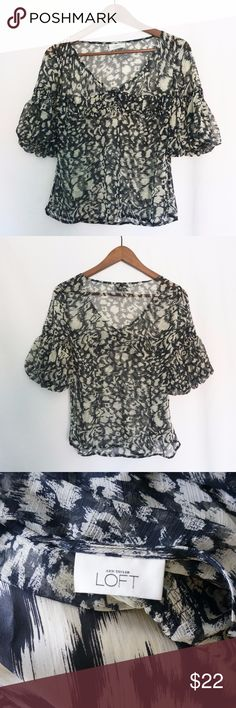 Loft Printed Blouse Great condition. Size and material tag is missing but this is a size small. LOFT Tops Blouses