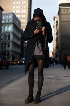 tights & sweater