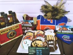 Football Season is here and make sure your pup is sporting their favorite team and ready to party with you.