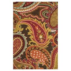 Anchor your living room seating group or define space in the den with this artfully hand-hooked wool rug, showcasing an exotic paisley motif for eye-catching...