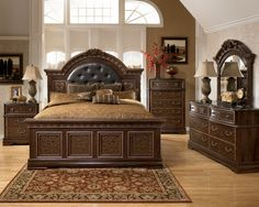 bedroom-comfortable-bedroom-design-with-dark-brown-wooden-bed-frame-designed-with-headboard-and-cozy-brown-bed-sheet-also-pillows-and-rustic-rug-on-the-brown-wood-floor-combine-with-dark-brown-wooden.jpg (1024×819)