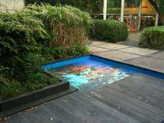 This aquarium floor graphic was created by printing onto Asphalt Art, very realistic