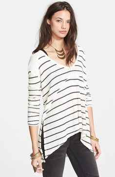 Free People 'Sunset Park' Stripe Textured Top