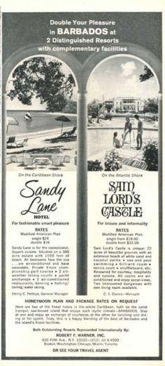 Barbados Resorts Sandy Lane Sam Lord Castle (1966)