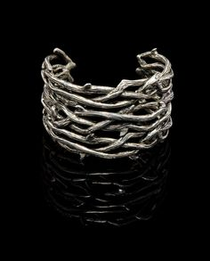 Gothic Jewelry  Large Thorn Cuff Bracelet by VampireGothic on Etsy, $86.00