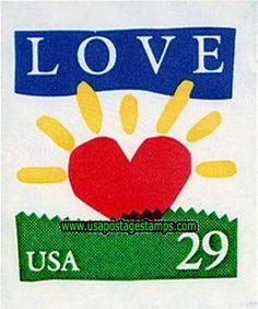 29c Heart-shaped Sun. Greetings Stamp 1994