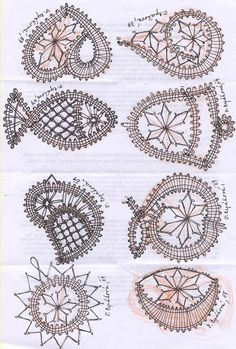 vlákna, nite, vlna a ja: Hadík - luyipaspattern Irish Crochet, Diy Crochet, Crochet Motifs, Crochet Patterns, Loom Patterns, Crochet Shawl, Bruges Lace, Bobbin Lacemaking, Bobbin Lace Patterns