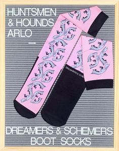 Huntsmen and Hounds Arlo Fox Riding Boot Socks - dreamers & schemers  #Socks #Equestrian #EquestrianSocks #DreamersnSchemers #RidingBootSocks
