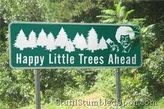 Bob Ross. If I saw this on the side of the road I'd probably crash my car because of extreme flailing.