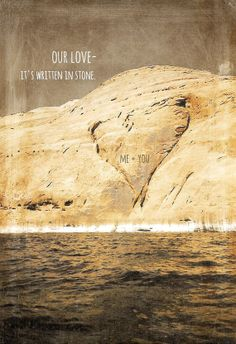 OUR LOVE it's written in stone love valentines by 25peacestudio, $8.00