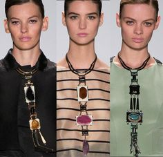 Necklaces at Carolina Herrera for NYFW Spring 2014