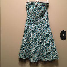 Nwot Ruby Rox 5 Strapless Dress Crinoline Midi