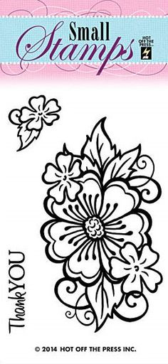 Hot off the Press - Mini Clear Stamp - Flower,$1.29