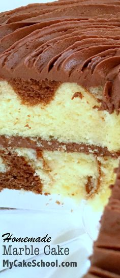 Delicious and moist Marble Cake Recipe from scratch by MyCakeSchool.com!  #marblecake #cakerecipe #marblecakerecipe #cake