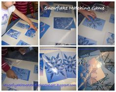 let's go fly a kite: Snowflake Matching Game