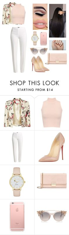 """""""Unbenannt #543"""" by aysuyucel ❤ liked on Polyvore featuring Jacques Vert, WearAll, Basler, Christian Louboutin, Kate Spade and Furla"""