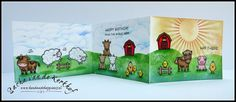 Handmade Happiness (by Sacha) | Lawn Fawn | Hay There | Ranger | Distress Inks | Spectrum Noir | Alcohol Markers | One Layer Triple-Fold Card | Birthday