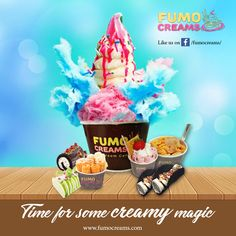 Fumo Creams - time for some creamy magic #IceCreamParlourInDelhi #SmokeIceCream #ColdRollIceCream #IceCrreamShakes #LiquidNitrogenIceCream #FumoCreams
